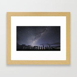 Milky Way from Rapa Nui (Easter Island) Framed Art Print