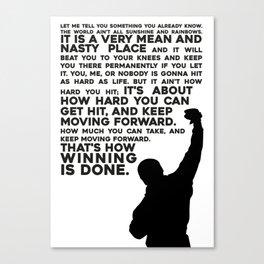 Rocky Motivation Canvas Print