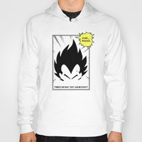 dragonball Hoodies featuring IT'S OVER 9000 (Dragonball, Vegeta)  by SOULTHROW