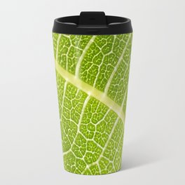 Textures of the leaf of a fig tree Travel Mug