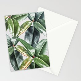 Tropical Leaves Green Lush Pattern | Lush Leaf Photography Stationery Cards