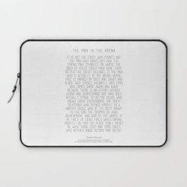 The Man In The Arena by Theodore Roosevelt 2 #minimalism Laptop Sleeve