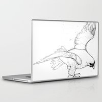 millenium falcon Laptop & iPad Skins featuring Falcon by Colleen