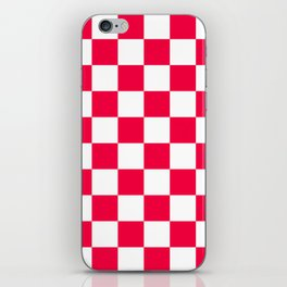 Cheerful Red Checkerboard Pattern iPhone Skin