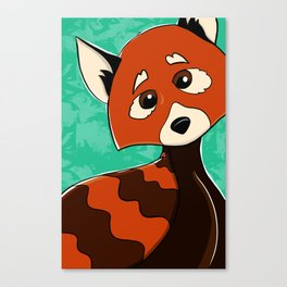 I'm a Red Panda and I love my Ladybug Canvas Print