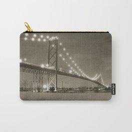 Ambassador Bridge at Night Carry-All Pouch