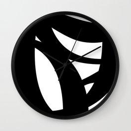 Hidden Letters. Baskerville Q Wall Clock