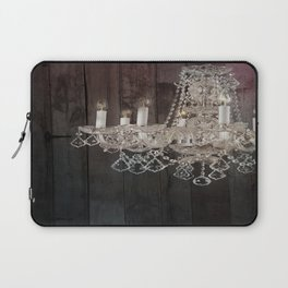 rustic barn wood western country chandelier Laptop Sleeve