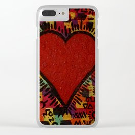 LOVE - Ode To Keith Haring Clear iPhone Case