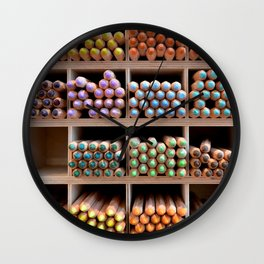 Coloured pencils Wall Clock