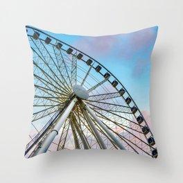 Big Wheel Keep On Turning Throw Pillow