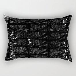 black and white urban pattern Rectangular Pillow