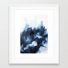 Indigo watercolor 2 Framed Art Print