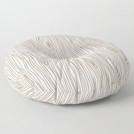 Wood Grain - Brown Floor Pillow