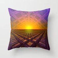 stargate Throw Pillows featuring Stargate by Phil Perkins