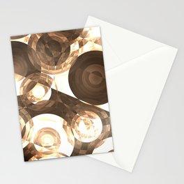 Sepia Circles Stationery Cards