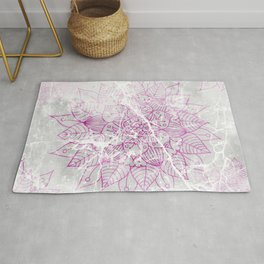 Modern abstract pink watercolor mandala marble pattern Rug