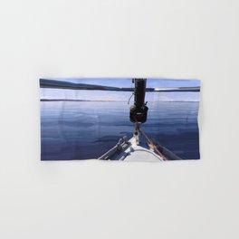 """Seeking the Horizon"" - Sailboat Painting Hand & Bath Towel"