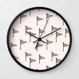 Pizza Pennant Wall Clock
