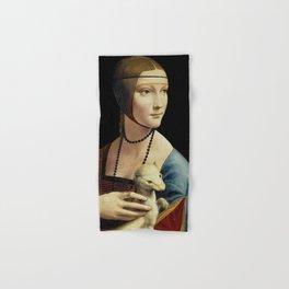 THE LADY WITH AN ERMINE - DA VINCI Hand & Bath Towel