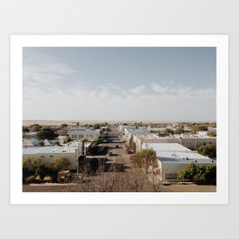 Marfa, Texas Overview Art Print
