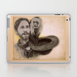 Jared Leto and Ripley the monkey Laptop & iPad Skin