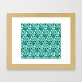 Kaleidescope aqua Framed Art Print