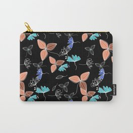 Autumn leaves . Black background . Carry-All Pouch