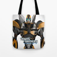 transformers Tote Bags featuring Transformers Prime by giftstore2u