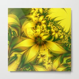 Happiness Is a Meadow of Yellow Daffodil Flowers Metal Print