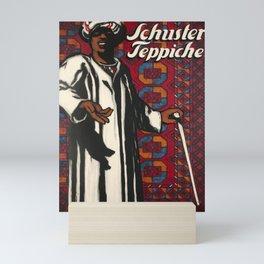 retro old schuster teppiche poster Mini Art Print