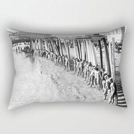 Long Beach Surf Contest 1930s Rectangular Pillow