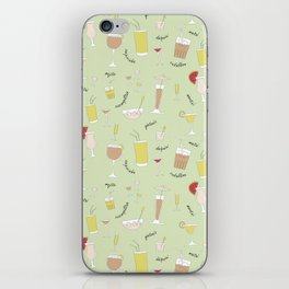 Cocktails pattern iPhone Skin