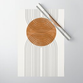 Abstract Flow Wrapping Paper