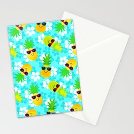 Funny Summer Tropical Pineapples Stationery Cards