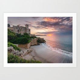 Tamarit Castle - Spain Art Print