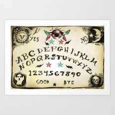 OUIJA Board Design Art Print