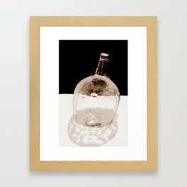 Still life (Old Canarian Glass) Framed Art Print