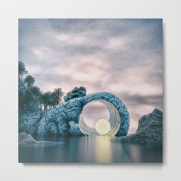 Light Headed Metal Print