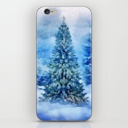 Christmas tree scene iPhone Skin