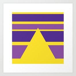 "Geometric Print ""Pyramid"" Art Print"