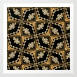 Earthman | Geometric Diamonds Art Print