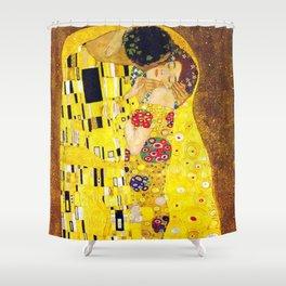 Gustav Klimt The Kiss Painting Shower Curtain
