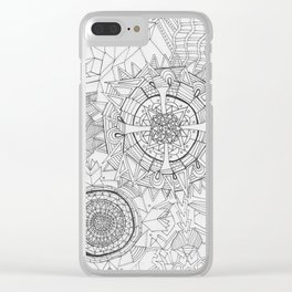 Adult Coloringbook Template Mandalas 2 Clear iPhone Case