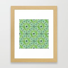 Geometric gemstones (emerald) Framed Art Print