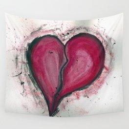 Cracked & Splattered Heart Wall Tapestry
