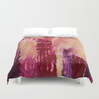 skyline Duvet Covers featuring Skyline by Stephanie Cole CREATIONS