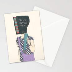 music in your mind Stationery Cards