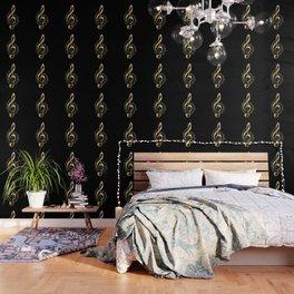 Golden G Cleff Wallpaper