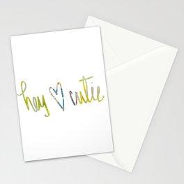 Hey Cutie! Fabric art Stationery Cards